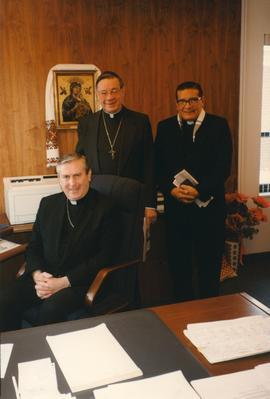 Archb.  Antoine Hacault with two unidentified clergy