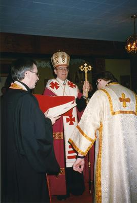Metr. Michael Bzdel at Fr. Taras Kraychuk Ordination