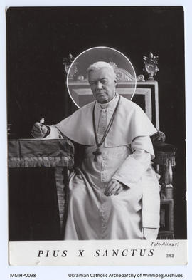 His Holiness Pope Pius X Photo Postcard