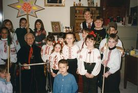 Metr. Emeritus Maxim Hermaniuk with Carollers