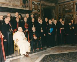 Group photo of Ukrainian Catholic Bishops with Pope