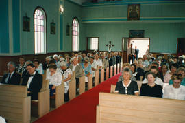 Audience at Father Izyk's funeral