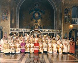 Group photo of Ukrainian Catholic hierarchs and Apostolic Nuncio