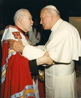 Pope John Paul II and Cardinal Lubachivsky