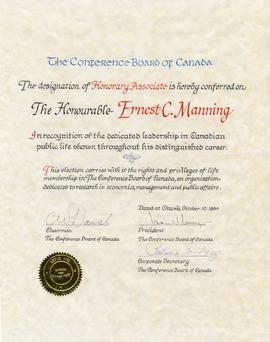 Conference Board of Canada certificate