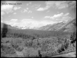 Banff. Mt. Massive from Tunnel Mtn. road (No.10). 6/21/00