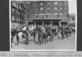 Indian Day. Indians visit Banff Springs Hotel / 27310