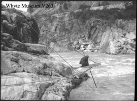 Indian spear fishing, Fraser Canyon