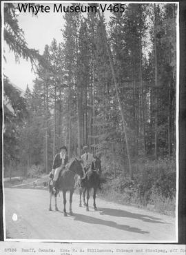 Banff, Canada. Mrs. W. A. Williamson, Chicago and Winnipeg, off for a ride / 27104