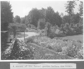 A corner of the formal garden before the house / 27935