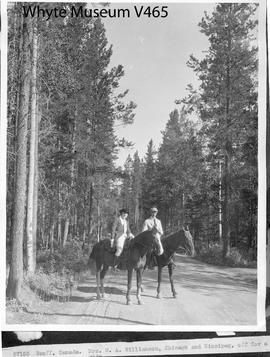 Banff, Canada. Mrs. W. A. Williamson, Chicago and Winnipeg, off for a ride / 27103