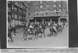 Indian Day. Indians visit Banff Springs Hotel / 27311