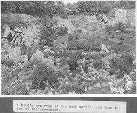 A bird's eye view of the Rock Garden made from the top of the precipice / 27934