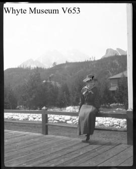 Untitled : [woman on station platform at Laggan]