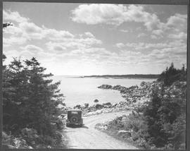 Canada. (Nova Scotia) In the low-lying hills of Acadian land the motorist finds scenes of surpass...