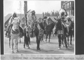 Indian Day. Indians visit Banff Springs Hotel / 27313