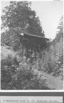 A sheltered nook in the Japanese garden / 27908