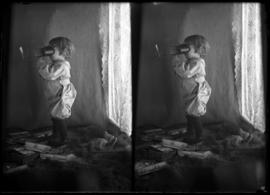 Findlay Barnes using stereo viewer