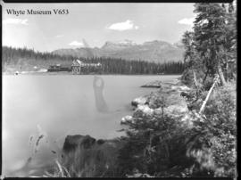 Chalet from across Lake Louise 1909