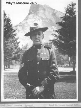 Banff, Canada. Sergeant, Royal Northwest Mounted Police. Mt. Rundle / 27047