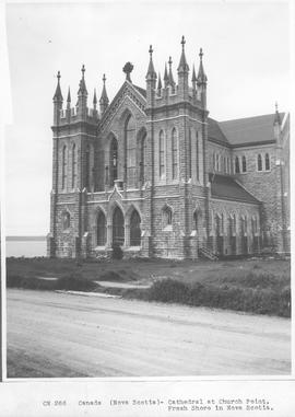Canada. (Nova Scotia) Cathedral at Church Point, Fresh Shore in Nova Scotia / CN266