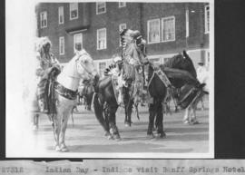 Indian Day. Indians visit Banff Springs Hotel / 27312