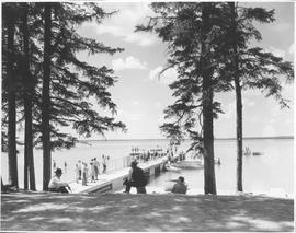 Canada. Manitoba Riding Mt. National Park. Government pier and bathing beach / CN211